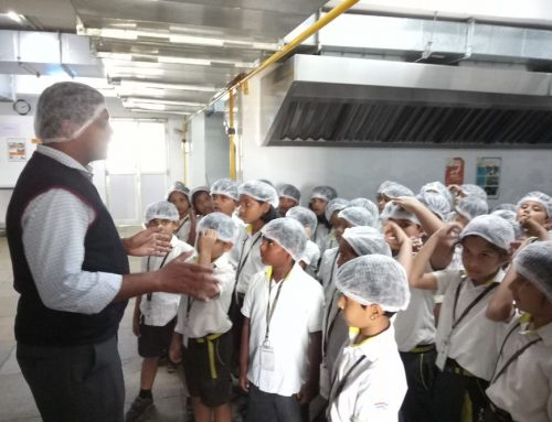 Field trip to 'The Gaudium School's' kitchen